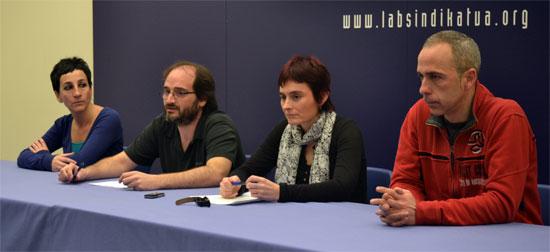 Arantza Sarasola (Zerbitzu Publikoak), Asier Imaz (Industria), Garbiñe Aranburu (Ekintza Sindikala) eta Xabier Ugartemendia (Zerbitzu Pribatuak)
