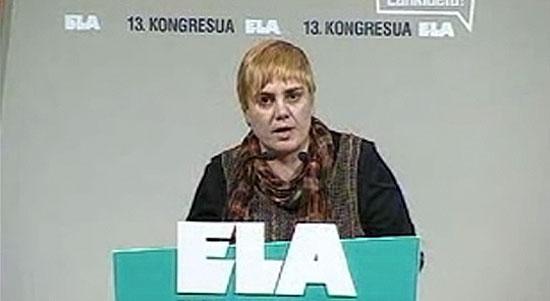 Ainhoa Etxaide ELA sindikatuaren kongresuan.