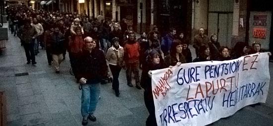 U27ko greban Gernikan egindako manifestazioa.