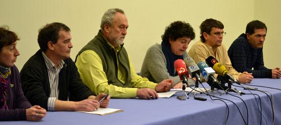 Lan sindikalaren kriminalizazioa salatu dute euskal sindikatuek Bilbon.