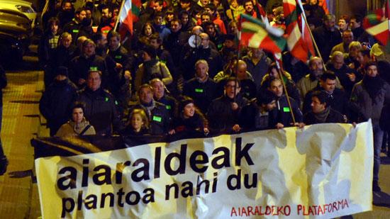 Aiaraldeko Plataformak deitutako manifestazioa Laudion.