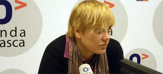 Ainhoa Etxaide en el programa Euskadi Hoy de Onda Vasca. (Onda Vasca)