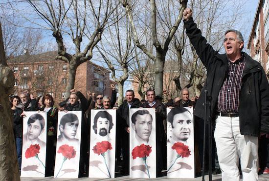 Homenaje en la Plaza 3 de Marzo.