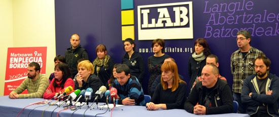 Enplegu proposamena aurkeztu du LAB sindikatuak.