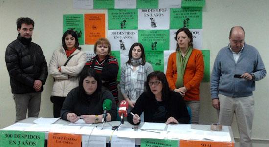 Rueda de prensa ofrecida por los sindicatos con representación en el SAD de Araba