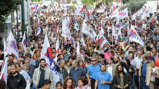 PAMEk urriaren 4an egindako manifestazioa Atenasen [url]www.pamehellas.gr[/url]