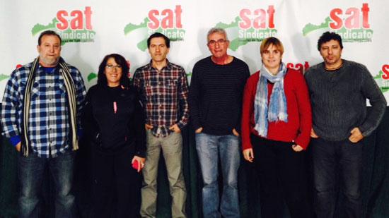 Visita de LAB en diciembre de 2013 a Andalucía para afianzar lazos de trabajo con el SAT.