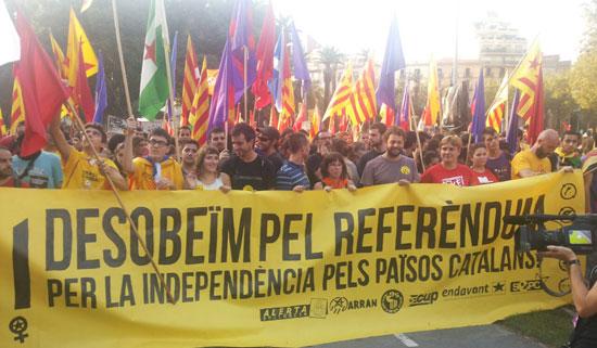 2014ko Diadan Ezker Independestistek antolatutako manifestazioa.