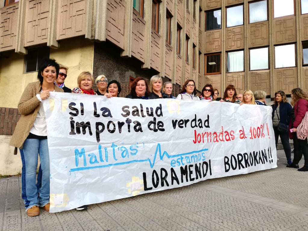Una de las movilizaciones realizadas por las trabajadoras en los meses de lucha.