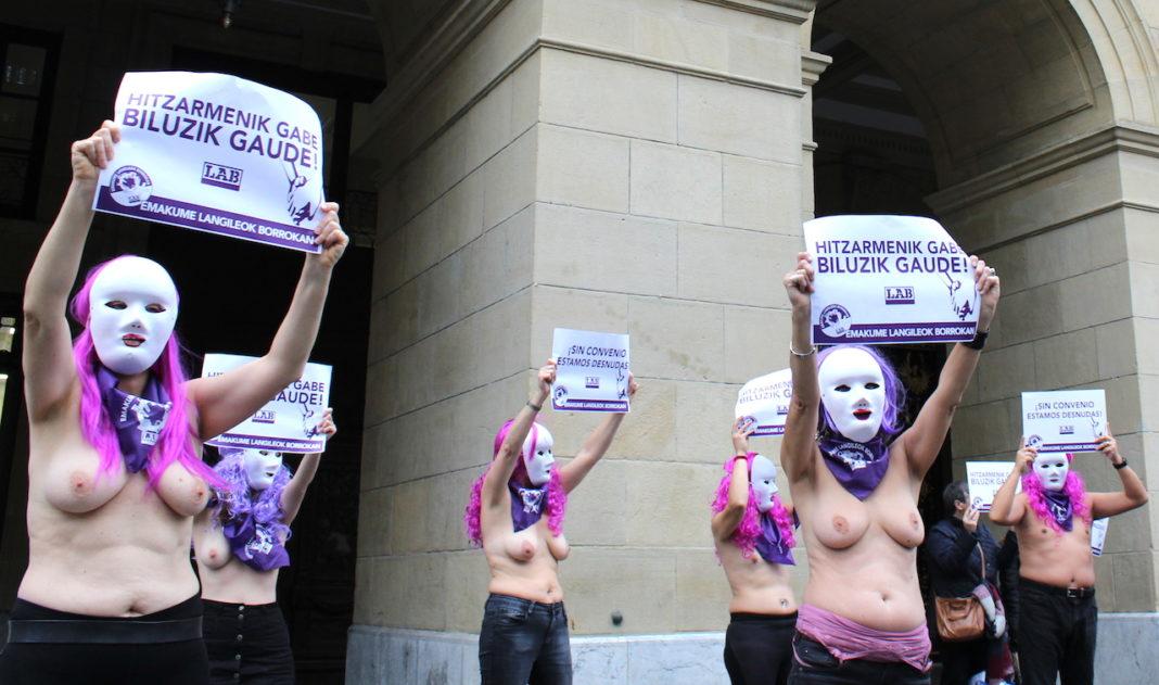 Acción de protesta realizada el pasado año frente a la Diputación.